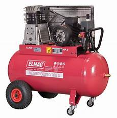 Druckluft Kompressor 100l - elmag kompressor typ meister 700 10 100d 400v 4 4kw