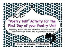 poetry lesson for high school students 25405 poetry unit anticipation activity day of school high school students teaching