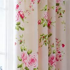 Stoff Mit Ausgefallenem Blumenmuster - pink floral pencil pleat lined cotton curtains 66