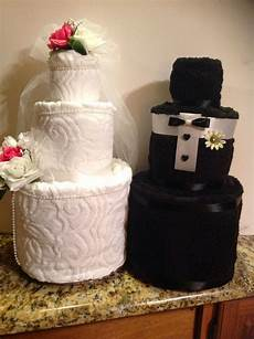 wedding towel cake great centerpiece for any bridal shower or wedding events bridal shower