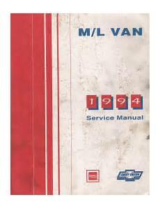 service and repair manuals 1994 gmc 1500 navigation system 1994 chevrolet gmc m l vans astro safari factory service manual