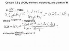 how to convert grams moles molecules and atoms youtube