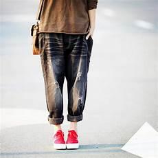 Pantalon Femme Vintage Harajuku Baggy Black Denim Cowboy
