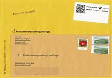 post nachnahme nicht philaseiten de postzustellungsauftr 228 ge und