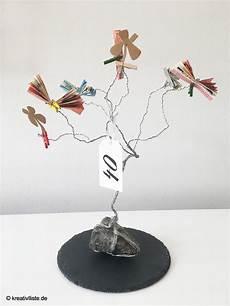 Geldgeschenk Mit Baum Aus Draht Kreativliste