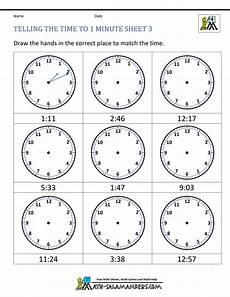 printable time worksheets for 1st grade 3732 clock worksheets to 1 minute