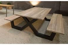 Table De Jardin Bois Avec Banc Domino Panda