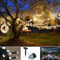 guirlande solaire 400 led blanches d 233 corative jardin