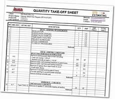 sle material takeoff spreadsheets qto estimating