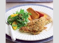 crumbed chicken with potato wedges_image