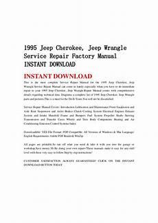 free download parts manuals 1997 jeep cherokee parental controls 1995 jeep cherokee jeep wrangle service repair factory manual instan