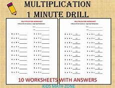 addition worksheets for grade 1 with answers 9391 multiplication 1 minute drill h 10 math worksheets with answers pdf year 2 3 4 grade 2 3 4