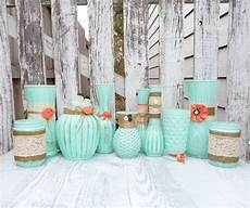 mint green and coral party decoration burlap and lace mint green and coral shabby chic by