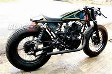 Modifikasi Scorpio Klasik by Modifikasi Klasik Cafe Racer Yamaha Scorpio