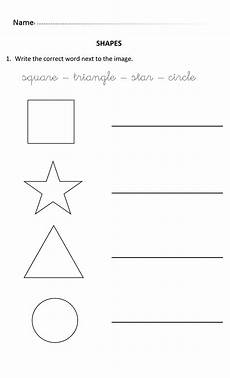 shapes worksheets year 1 1323 writing shapes for 5 and 6 years olds writingshapes with images shape names words writing