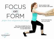focus on form proper knee alignment during lunges