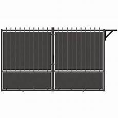 portail en fer leroy merlin portail coulissant aluminium crete festonne gris