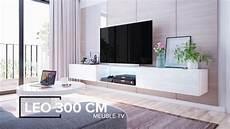 meuble tv a meuble tv suspendu leo jusqu 224 300cm