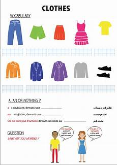 Anglais Clothes And Colours La Classe De