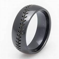 baseball wedding band black sports wedding rings titanium buzz com