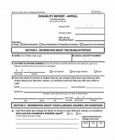 free 10 sle social security disability forms in pdf