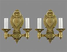 french styled vintage gold sconces c1930 ornate antique