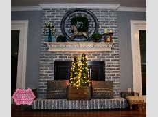 Hometalk   Painted Brick Fireplace Farmhouse Inspiration