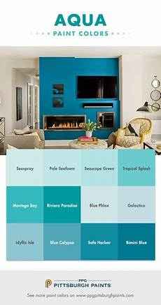 aqua paint colors from ppg pittsburgh paints aquas are very relaxing because of their