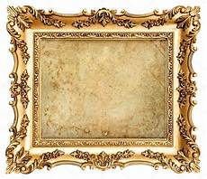 goldene bilderrahmen goldene barock bilderrahmen mit leinwand stockfoto