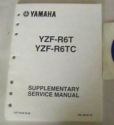 yamaha yzf r6t yzf r6tc supplementary service manual lit