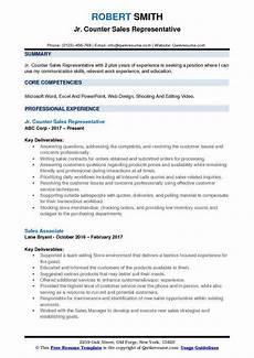 counter sales representative resume sles qwikresume
