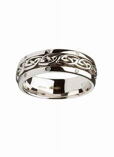 14k white gold celtic knot wedding ring blarney