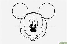 Micky Maus Ausmalbilder Kopf Micky Maus Kopf Zeichnen Kinder Ausmalbilder