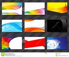 colorful name card template colorful namecard template 02 stock illustration