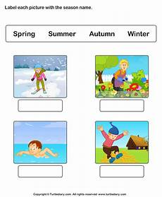 seasons worksheets for grade 3 14801 write seasons depicted by pictures worksheet turtle diary