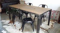 table salle a manger style industriel table industrielle