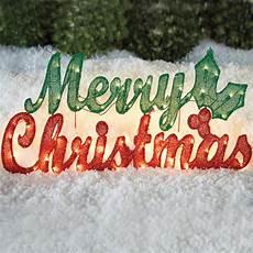 pre lit merry christmas sign christmas brylane home