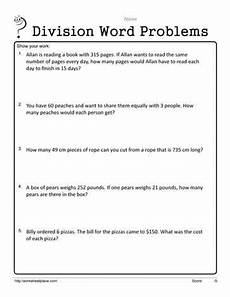 worksheets on division word problems for grade 4 6547 two and 3 digit word problems worksheets