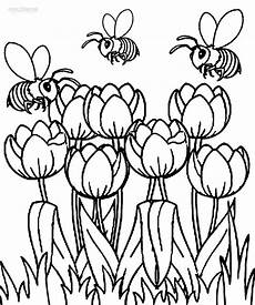 printable tulip coloring pages for cool2bkids