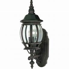 glomar 1 light 20 in wall lantern with clear beveled glass textured black hd 887 the home depot