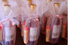 cute baby or bridal shower favor idea mini wine bottles and chapstick or lip gloss baby