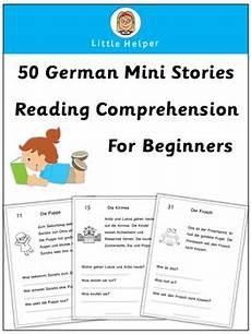 german reading comprehension worksheets 19626 german reading comprehension 50 mini stories mini