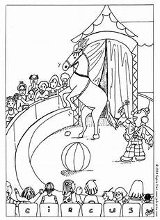 circus coloring pages clown and