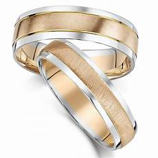 his hers 5 6mm 9ct rose white gold wedding ring 9ct two colour at elma uk jewellery