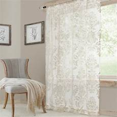 single window curtain elrene white single window curtain panel 52 in w 84 in l 22986wht the