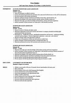 furniture sales associate resume sles velvet