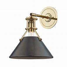 hudson valley metal no 2 gold and bronze one light wall sconce mds950 adb bellacor