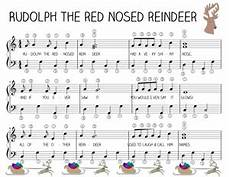 easy piano music rudolph the red nosed reindeer