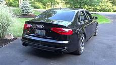 audi s4 apr stage 2 with awe track exhaust youtube