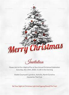 merry christmas invitation card template in adobe photoshop